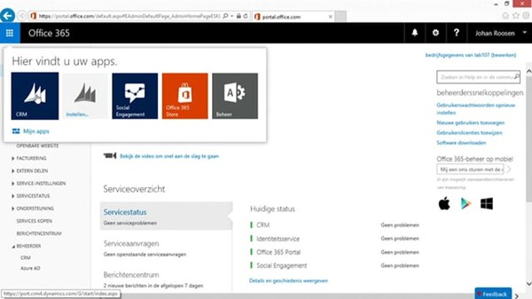 Online video training, Efficient werken met de Microsoft Dynamics CRM Web Client